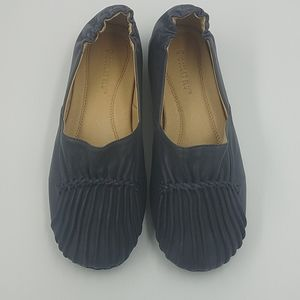 Chocolat Blu Pintuck Leather Loafers NWOT